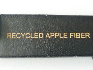 Mens 20mm brown vegan watch strap watchband recycled apple fiber eco friendly