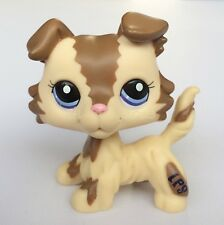 Hasbro Littlest Pet Shop LPS Figure Loose Toy Brown and Caramel Collie Dog E1