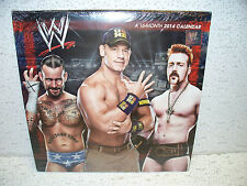 2014 WWE Wrestling 16 Month Calendar Sealed NEW!! WWE John Cena CM Punk Triple H