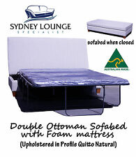 AUSTRALIAN MADE New Ottoman sofa bed (Foam mattress) Double Size Couch Lounge