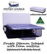 AUSTRALIAN MADE New Ottoman sofa bed (Foam mattress) Double Size Couch Lounge