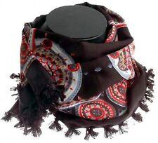 Stile Etnico Luk Geometrici Con Motivo Cachemire Nero Rosso