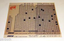 Microfich Catalogo parti di ricambio FIAT TIPO (1100 - 1370 - 1580) Stand 12/1993