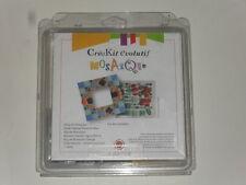 kit cadre en mosaïque (un cadre, 250g de mosaïque, colle, ciment joint ocre)