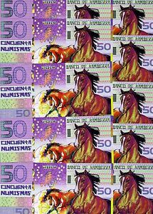 LOT, Kamberra, POLYMER, 10 pcs x 50 nms, China Lunar Year 2014, UNC > Horse