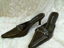 PIERRE DUMAS heels SIZE 8 BROWN Career comfortable church shoe  mules