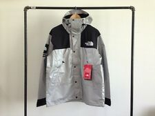 SUPREME X THE NORTH FACE 3M MOUNTAIN PARKA REFLECTIVE SILVER BLACK JACKET TNF L