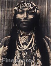 1900/72 Vintage NATIVE AMERICAN INDIAN Wishham Girl BEADS Jewelry EDWARD CURTIS