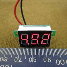 M189 New Mini DC 4.5-30V Red LED Panel Voltage Meter 3-Digital Display Voltmeter