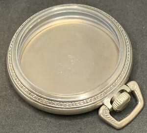 Keystone Pocket Watch Case 18s Screw Down Base Metal Vintage Glass Crystal F2792
