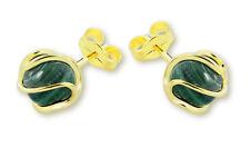VASCAYA Damen Ohrstecker Ohrring Malachit grün Gold 333 Geschenk Geburtstag