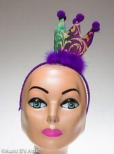 Mardi Gras Crown Headband Gold Green & Purple Brocade Mini Fabric Crown