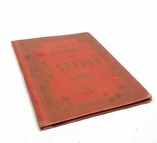 Antique Postcards / Pictures Of London City In Red Album / Book The Views Of