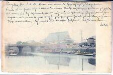 K 140- Brücke,  von Tsingtau 1906 post. versandt, Marke gelöst