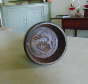 Antique Primitive Wooden Butter Mold Swan