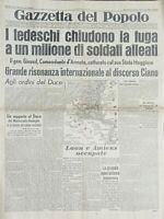 Giornale - Gazzetta del Popolo N. 122 - Grande risonanza al discorso Ciano 1940