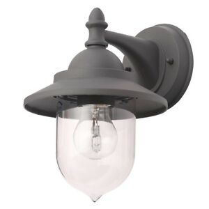 Litecraft Bacup Outdoor Wall Lantern Industrial Fisherman Style Light Anthracite
