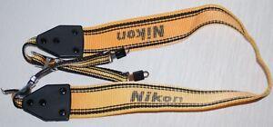 Old vintage Nikon camera strap