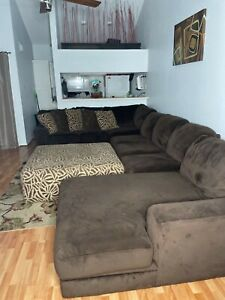 Dark Brown Sofa Sectional EVERYTHING INCLUDED!!