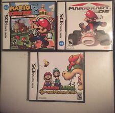 Mario Kart DS,Mario & Donkey Long 2+Mario & Luigi (Nintendo DS)Lot Complete