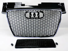 Audi TT 8J 07-13 RS Style Euro Honeycomb Hex Mesh Chrome & Gloss Black Grill