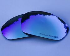 ETCHED POLARIZED ICE BLUE MIRROR REPLACEMENT OAKLEY STRAIGHT JACKET 2007+ LENSES