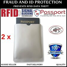 2x PASSPORT RFID BLOCKING IDENTITY THEFT PROTECTION SLEEVES