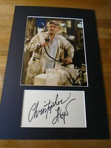 Christopher Lloyd Back To The Future Genuine Signed Autograph UACC / AFTAL