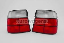 BMW 5 Series E34 87-95 Clear Red Rear Tail Lights Lamps Pair Left Right N/S O/S