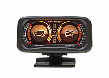 Black In Car Inclinometer 4WD Land Meter Pitching Rolling Angle Incline Off Road