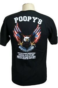 """Poopy's (yes, """"poopy's"""") Men's L Motorcycle tee shirt, Live to Ride, Route 66"""