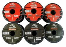 100' FT Each 14 16 18 GA  600FT Red Black  Primary Remote Wire Power Stranded