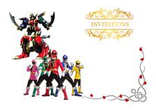 5 enveloppes pour cartes invitation anniversaire Power Rangers 7