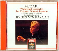 EMI 1987 CD JAPAN Mozart KARAJAN Woodwind Concertos LEISTER KOCH CDM-7-69014-2