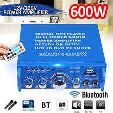 Mini 600W Amplifier HIFI Audio Stereo bluetooth Radio 2CH SD MP3 FM Car Home US