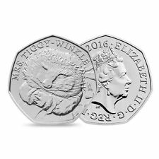 Rare Mrs Tiggy-Winkle 50p fifty pence coin - UNCIRCULATED