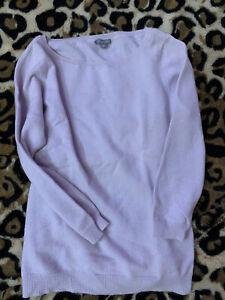 Ann Taylor Lavender Cashmere Sweater,M