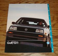 Original 1990 Volkswagen VW Wolfsburg Golf & GTI Sales Brochure 90
