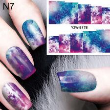 Nail Art Water Decal Manicure Transfer Sticker Tips Pretty Flower Design JR