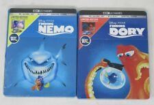 New! 2-Pack - Finding Nemo + Finding Dory Steelbook (4K Uhd + Blu-ray) - Read