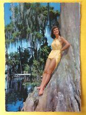 Vintage Postcard Pin Up 1970s - Mooie vrouw in badpak