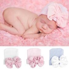 Toddlers Cute Baby Girls Boys Bowknot Cartoon Cotton Sleep Cap Headwear Hat