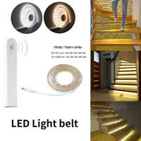 2835 LED Motion Sensor Night Light Strip Wireless Bed Closet Cabinet Stairs Lamp