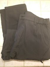 Mens Cargo Nylon Pants Hiking Camping Lined Black 36