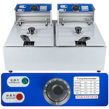 Electric 16L Dual Tanks Deep Fryer Commercial Tabletop Fryer 5000W For Hotels