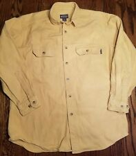 Woolrich Yellow Chamois Camp Hunting Shirt Sz Large L