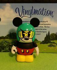 "DISNEY World Vinylmation Park 3"" Set 1 Mickey Mouse Cartoon Croissant Triomphe"