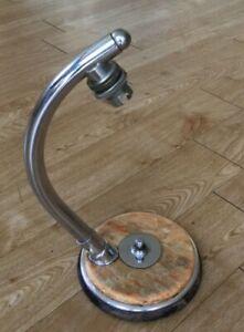 UNUSUAL ART DECO MODERNIST CHROME AND BAKELITE TABLE LAMP