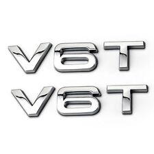 2× V6T Emblem 3D Schriftzug Aufkleber für Audi Q3 Q5 Q7 A3 A4 A5 A6 S3 S4 S6 R8