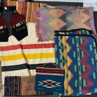 Vintage Estate Lot Southwestern Native Style Geometric Blankets & Rugs Textile